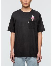 RIPNDIP Black Psychadelic Nermal Pocket T-shirt for men