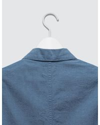 (w)taps Blue Bud Shirt Chambray for men
