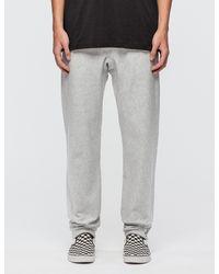 4910f7b9 Champion Small Logo Sweatpants in Gray for Men - Lyst