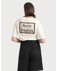 Acne White Elice Reverse Label T-shirt