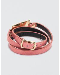 McQ Alexander McQueen - Red Razor Triple Wrap Bracelet - Lyst