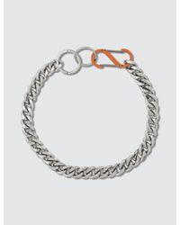 Martine Ali Metallic Cuban Chain Necklace