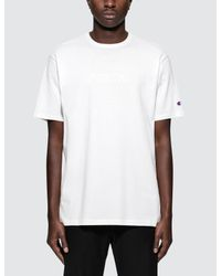 """Champion - White Beams X Champion """"north"""" S/s T-shirt for Men - Lyst"""