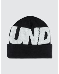 12cd1cc7d2f Lyst - Undefeated Undftd Logo Beanie in Black for Men