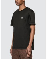 Stone Island Black Classic Patch T-shirt for men