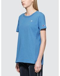 Champion Blue Classic Small Logo S/s T-shirt