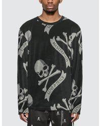 MASTERMIND WORLD Black Tropical Skull Long Sleeve T-shirt for men