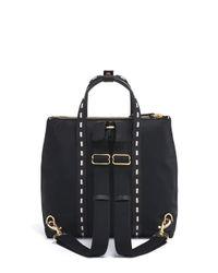 Henri Bendel - Black Jetsetter Mini Whip Stitch Backpack - Lyst
