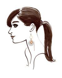 Henri Bendel - Metallic Iconic Charm Drop Earrings - Lyst