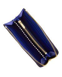 Henri Bendel - Blue Soho Continental Zip Around Wallet - Lyst