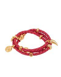 Henri Bendel - Pink Boho Grand Triple Wrap Charm Bracelet - Lyst