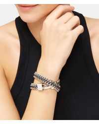 Henri Bendel - Metallic Padlock Convertible Leather Wrap Bracelet & Choker - Lyst