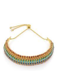 Henri Bendel - Metallic Rainbow Slider Bracelet - Lyst