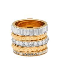 Henri Bendel - Metallic Chrysler Puzzle Ring - Lyst