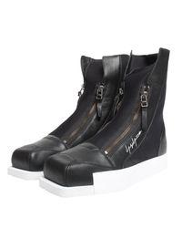 Yohji Yamamoto Femme Zip Hi-top Sneaker Black