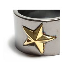 Tomasz Donocik - Tomaz Donocik Black Star Ring Black Rhodium - Lyst