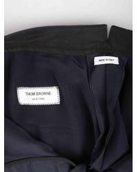 Thom Browne - Blue Navy Skinny Low Rise Trousers - Lyst