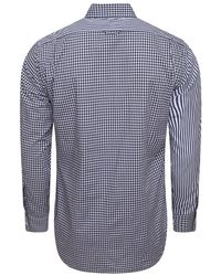Thom Browne Classic Check Stripe Shirt Blue for men