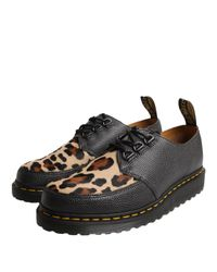 Dr. Martens Bailey Leopard Creeper Shoe Black
