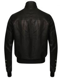 Rick Owens - Glitter Egon Leather Jacket Black for Men - Lyst