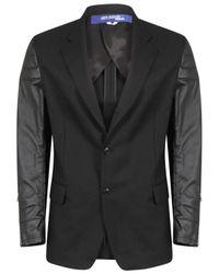 Comme des Garçons | Leather Sleeve Blazer Jacket Black for Men | Lyst