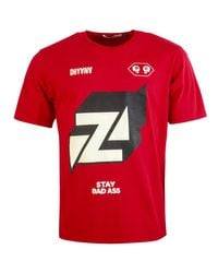 Undercover Red Graphic Print T-shirt for men