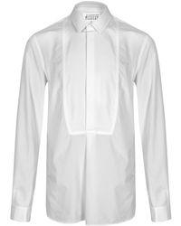 Maison Margiela Classic White Tuxedo Shirt for men