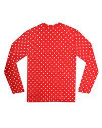 Comme des Garçons Play Womens Polka Dot T-shirt Red