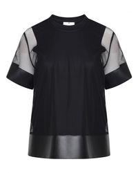 Comme des Garçons Mesh Layer T-shirt Black