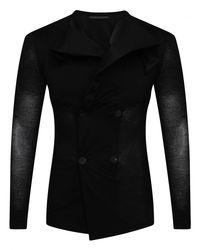 Yohji Yamamoto Lightweight Stretched Jacket Black
