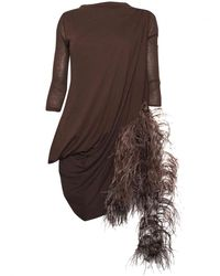 Rick Owens - Lilies Brown Marabout Top - Lyst