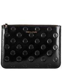 Comme des Garçons Black Dots Embossed Leather Pouch