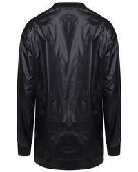 Yohji Yamamoto Nylon Back Lightweight Cotton Sweater Black for men