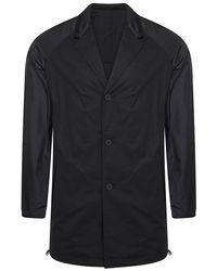 Y-3 Black Poplin Raglan Blazer for men