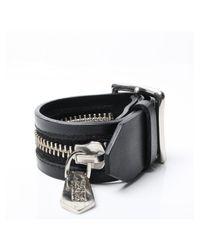 KTZ | Zipper Buckle Bracelet Black | Lyst
