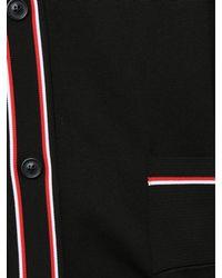 Maison Margiela Contrast Stripe Collared Cardigan Black for men