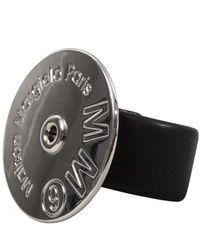 MM6 by Maison Martin Margiela Metallic Silver Logo Disc Bracelet