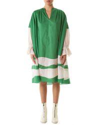 Vika Gazinskaya Green Draped Ruched Dress