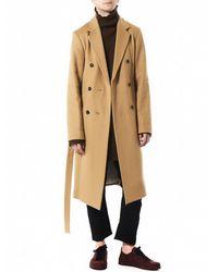Ann Demeulemeester Natural Belted Coat for men
