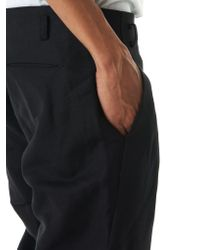 Ma+ Black Linen Trousers for men