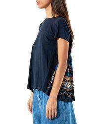 Sacai - Blue Pleated Back Pocket Tee - Lyst