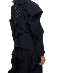 Yohji Yamamoto Black Deconstructed Trench Coat
