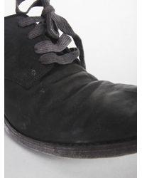 A Diciannoveventitre Black Lace-up Leather Shoe for men