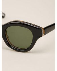 Hakusan Multicolor 'hook' Celluloid Panther Sunglasses