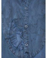 Greg Lauren Blue Bleached Button-down Shirt for men