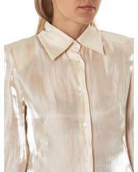 Mikio Sakabe Multicolor Metallic Satin Shirt