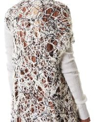 Alessandra Marchi Multicolor Hand-knit Cardigan