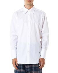 Vivienne Westwood White Double Collar Oxford Shirt for men
