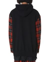 Kidill - Red Check Hooded Pullover - Lyst