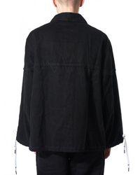 Liam Hodges Black Bell-sleeved Work Jacket for men